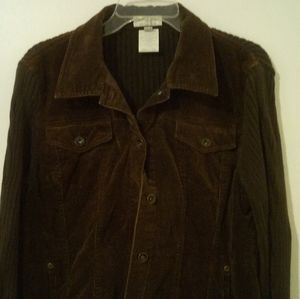 FDJ French Dressing Jacket with Ribbed Knit XL